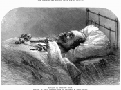 English: Napoleon III, after his death, illustration of the Jan 25,1873 Illustrated London News. Français : Napoléon III après sa mort, illustration du 25 janvier 1873 parue dans le Illustrated London News.