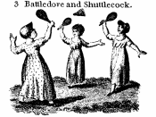 Game of Battledore and Shuttlecock in 1804
