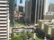English: Brisbane, Queensland, Australia: View of ANZAC Square and Brisbane GPO from Central Station. Phoyo:IDB