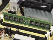 1 GB of SDRAM mounted in a personal computer. An example of primary storage.