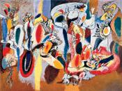 Arshile Gorky. The Liver is the Cock's Comb (1944), oil on canvas, 73 1/4 x 98