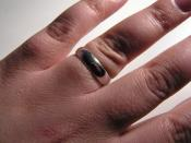 A white gold wedding ring. Photograph taken by CLW and released into the public domain