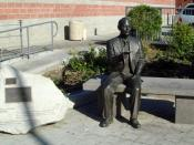 English: Memorial statue of Chiune Sugihara, a Japanese diplomat who helped thousands of Jews leave the Soviet Union while serving as the consul of the Empire of Japan to Lithuania, in Little Tokyo, Los Angeles, California