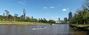 Yarra River & Melbourne City Skyline View at Alexandra Gardens