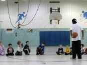 beginning basketball practice
