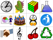 Examples of computer clip art. (Source: Open Clip Art Library)