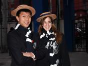 Students from Harrow International Beijing in their uniforms