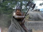 John Rhys-Davies as Gimli in Peter Jackson's live-action version of The Lord of the Rings.