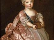 Changing norms of socialization: Louis XV in 1712, wearing the customary clothes of unbreeched boys, would be considered