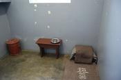English: Nelson Mandela's prison cell on Robben Island Français : Cellule de Nelson Mandela, Robben Island Deutsch: Nelson Mandelas Gefängniszelle auf Robben Island Myanmasa: Robben Island (ရော်ဘင်ကျွန်း)ပေါ်ရှိ Nelson Mandela's (နယ်လဆင် မန်ဒဲလား) ၏ထောင်အ