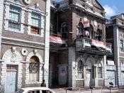 A street scene at the city of Aden, Yemen.
