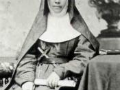 Sister Mary MacKillop (1842-1909), Australian nun, foundress of the congregation of Sisters of St Joseph of the Sacred Heart
