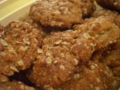 Freshly baked ANZAC biscuits. Note that these were made without dessicated coconut, which is a traditional ingredient.
