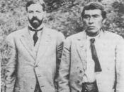 Alfred L. Kroeber with Ishi in 1911. Ishi is believed to be the last Native American in Northern California to have lived the bulk of his life completely outside the European American culture. Ishi: The Last Yahi dead link see also Uncontacted peoples
