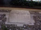 This memorial stone to Lord Harris is in the Harris Garden at Lord's