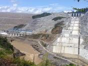 English: The Bakun Dam in Malaysia. Deutsch: Baustelle des Bakun-Staudammes in Malaysia
