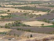 English: andalusian fields, view from La Calahorra castle Français : Campagne andalouse, vue du château de la Calahorra