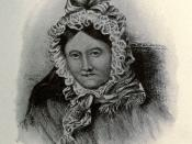 Pencil drawing of William's sister Dorothy Wordsworth in later life.