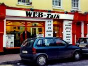 English: Killarney - High Street - WEB Talk I utilized this internet communication facility to send emails to my family each day I was in Killarney. It's really great that such internet facilities are located throughout Ireland, especially in cities and l