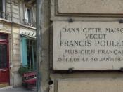Poulenc Commemorative Plaque, 5 rue de Medicis, Paris