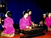 Sundanese gamelan degung ensemble, West Java, Indonesia