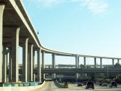 A high-capacity interchange: the Judge Harry Pregerson Interchange in Los Angeles, California, United States.