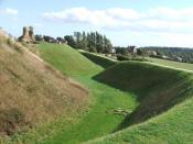 English: Sandal Castle. Looking SE.