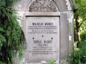 Gravestone of Wilhelm Wundt, father of psychology, at Südfriedhof (southern cemetery) Leipzig