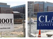English: Construction signs of the Clark-Smoot Joint Venture, the primary construction contractors at CityCenterDC. CityCenterDC is a $950 million construction project consisting of six buildings, which broke ground in April 2011 in the heart of Washingto