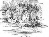 English: THE BURNING OF JAMESTOWN