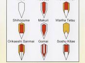 modèle d'assemblage de brique de katana