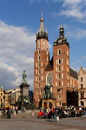 Church of St. Mary in Kraków (Poland). Français : Basilique Sainte-Marie de Cracovie. Italiano: Basilica di Santa Maria (Cracovia). Polski: Kościół Mariacki w Krakowie.