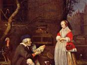 The Poultry seller by Gabriel Metsu, 1662