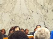 Elena Kagan is sworn in by Chairman Pat Leahy
