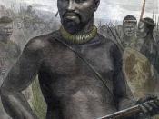 Le chef Dabulamanzi, qui commande les Zoulous à Rorke's Drift