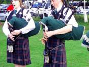 Northern Constabulary Pipe Band at Pitlochry Highland Games Scotland
