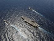 U.S. Navy ships are in the Atlantic Ocean.