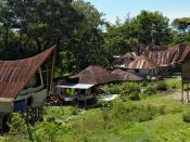 English: Batak village on Samosir island, Lake Toba