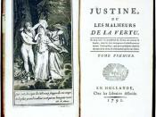 First page from Justine (Justine ou les malheurs de la vertu, Paris)