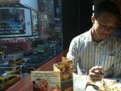 English: Me eating at Olive Garden in Times Square, NYC.