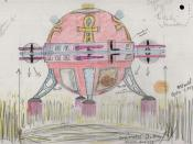 Description: Colour sketch sent to the Ministry of Defence of a 'spaceship' creating crop circles Date: 1998? Our Catalogue Reference: DEFE 24/1999 p.47 This image is from the collections of The National Archives. Feel free to share it within the spirit o