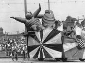 Potlatch parade float