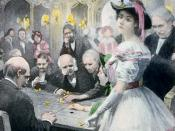 English: Gwendolen Harleth at the roulette table