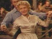 Cropped screenshot of Jean Arthur from the trailer for the film Shane