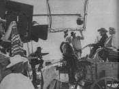 The filming of