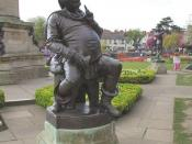 English: Falstaff, Stratford Upon Avon The portly figure of the famous William Shakespeare character in the park