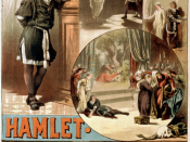 A circa 1884 poster for William Shakespeare's Hamlet, starring Thos. W. Keene.