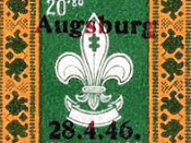 stamp of Lithuanian Scout postal system for displaced persons camps