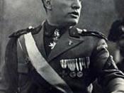 Prime Minister Benito Mussolini.