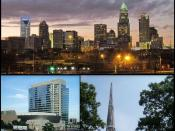 English: Collage of Charlotte from photos available on Wiki Commmons File:Charlotte Skyline 2011 - Ricky W.jpg File:UNCCNewQuad.jpg File:Main library.jpg File:Harvey B. Gantt Center on Opening Day.jpg File:NHofF 5-09.JPG File:Duke Energy Center cropped.jp